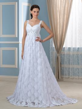 Ericdress Pretty Straps Empire A Line Lace Wedding Dress