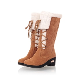 Ericdress Fashion Suede Flat Boots