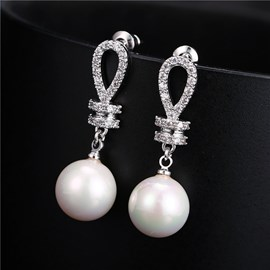 Ericdress Chic Pearl Zircon Earrings