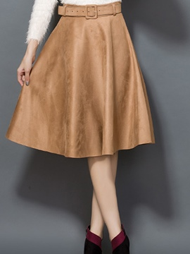 Ericdress Plain A-line Skirt