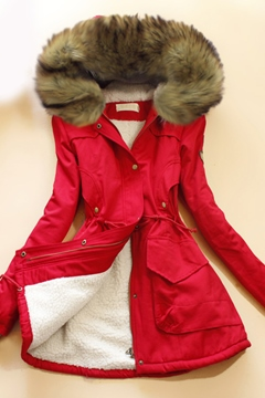 Korean Long Slim Fur Coat