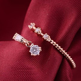 Ericdress Vintage Water Drop Zircon Ring