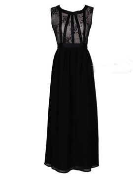 Ericdress Black Lace Patchwork Sexy & Clubwear Dress