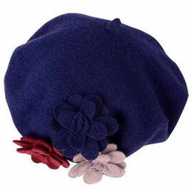 Ericdress Floral Applique Wool Beret Hat