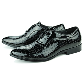 Ericdress Croco Lace up Square Heel Men's Derbies