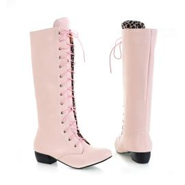 Ericdress Charming Lace-up Knee High Boots