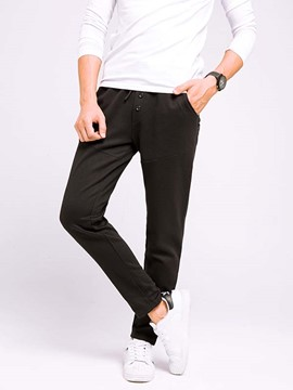 Ericdress Plain Large Size Loose Men's Pants