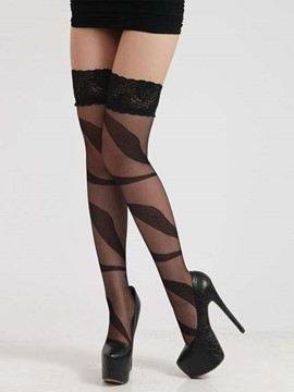 Ericdress Stripe Thigh Length Stockings