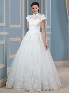 Ericdress Beautiful High Neck Princess Wedding Dress