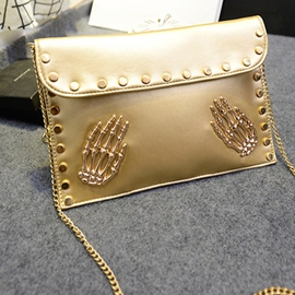 Ericdress Skeleton Hand Rivets Envelope Shoulder Bag