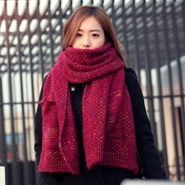 Ericdress Pocket Decorated Knitted Couple Scarf