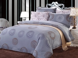 Ericdress Enjoy City Life Circle Print 4-Piece Cotton Bedding Sets