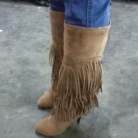 Ericdress Gorgeous Fringe Knee High Boots