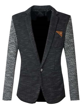 Ericdress Color Block Slim Top Quality Gentleman Blazer