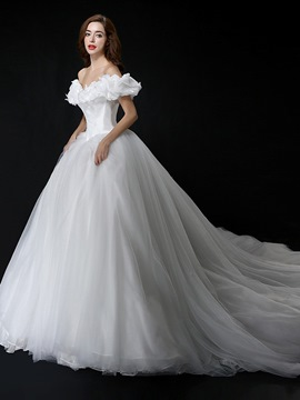 Ericdress Beautiful Off the Shoulder Princess Wedding Dress