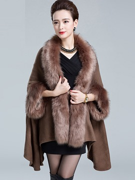 Ericdress Elegant Faux Fur Cape