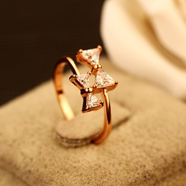 Ericdress Classic Bowknot Zircon Ring