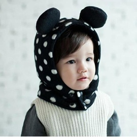 Ericdress Polka Dot Plush Kids Hat