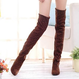 Ericdress Pretty Leopard Knee High Boots