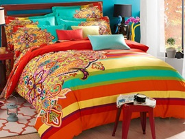 Ericdress Fashion Secret Colorful Floral 4-Piece Cotton Bedding Sets