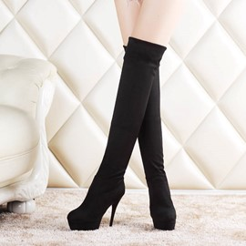 Ericdress Fashion Suede Knee High Boots