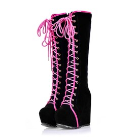 Ericdress Popular Lace-up Knee High Boots