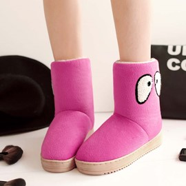 Ericdress Cartoon Eyes Snow Boots