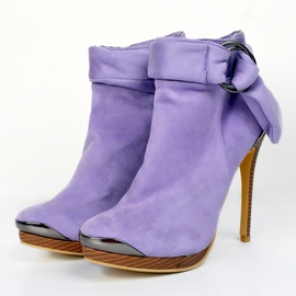 Ericdress Charming Purple High Heel Boots