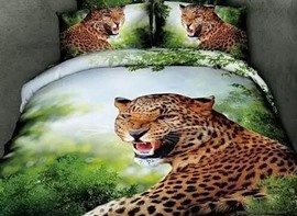 Ericdress Roaring Leopard Print Bedding Sets