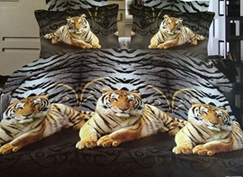 Ericdress Zebra Stripe Tiger Print Bedding Sets
