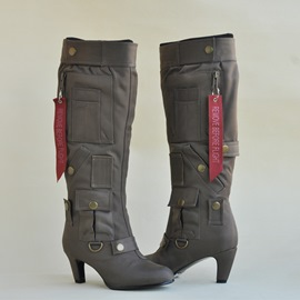 Ericdress Cool Metal Decorated Knee High Boots