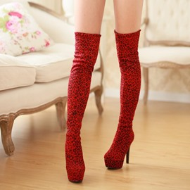 Ericdress Sexy Leopard Knee High Boots