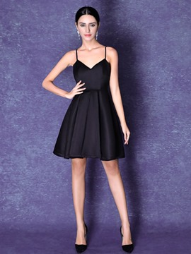 Ericdress A-Line Appiques Short Cocktail Dress