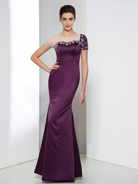 Ericdress Sheer Neck Beading Sequins Evening Dress