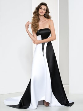 Ericdress A-Line Strapless Chapel Train Evening Dress