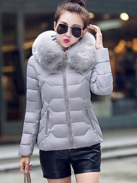 Ericdress Short Style Hooded Coat