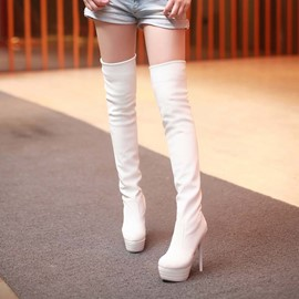 Ericdress Fashion Pu Over Knee High Boots