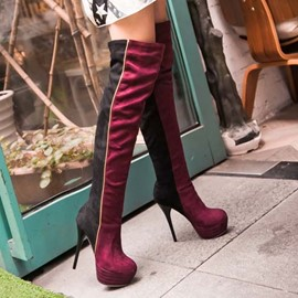 Ericdress Patchwork Knee High Boots