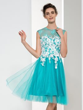 Ericdress Scoop Appliques Short Homecoming Dress