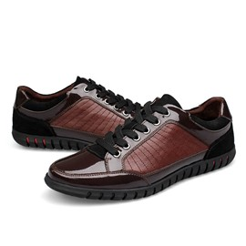 Ericdress Contrast Color Lace-Up Men's Sneakers
