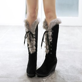 Ericdress Impressive Furry Knee High Boots