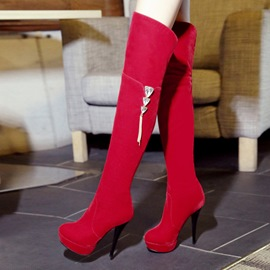 Ericdress Pretty Knee High Boots with Rhinestone