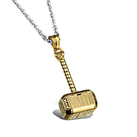 Fashion Hammer Shaped Pendant Men's Necklace