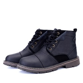Ericdress Round Toe Lace up Men's Martin Boots