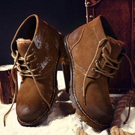 Ericdress Brush-Off Lace-Up Men's Boots