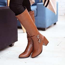 Ericdress Retro Roman Knee High Boots