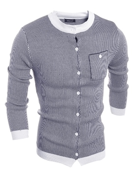 Ericdress Patched Pocket Slim Men's Sweater