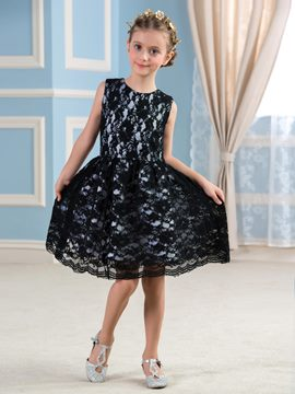 Ericdress Beautiful Jewel Short Lace Flower Girl Dress