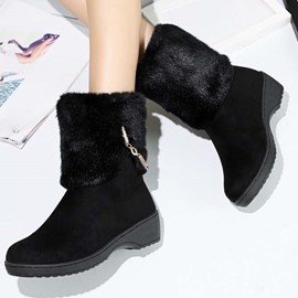 Ericdress Graceful Furry Ankle Boots
