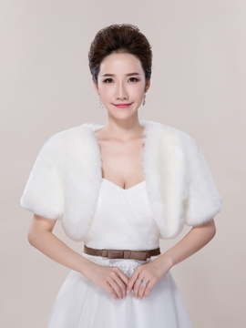 Ericdress Simple Faux Fur Wedding Jacket